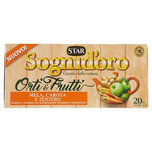 Sognid'Oro Tisana Orti&Frutti Mela Carota e Zenzero, 20 Filtri, 40g
