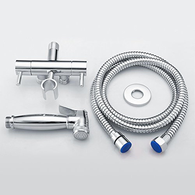 SHLONG Alle Kupfer ein in zwei aus Eckventil WC Spritzpistole Set Booster Spritzpistole Spüler Wasserhahn Set
