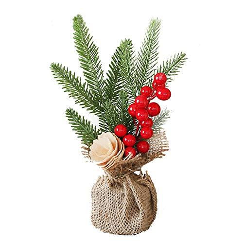 GETSO Kiefer-Nadel-Bonsai mit Topf künstliche Anlage/Blumen Hochzeit/Weihnachten Balkon Bonsai Winter Home-Dekor-Zubehör: a