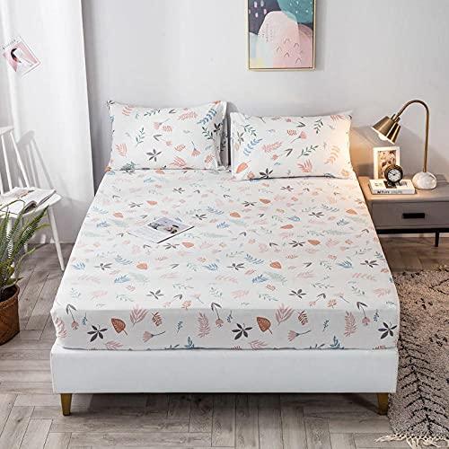 FJMLAY AjustableSábana Bajera,Sábanas de algodón para Cama, Almohadillas Protectoras para Dormitorio Apartments-U_150cmx200cm