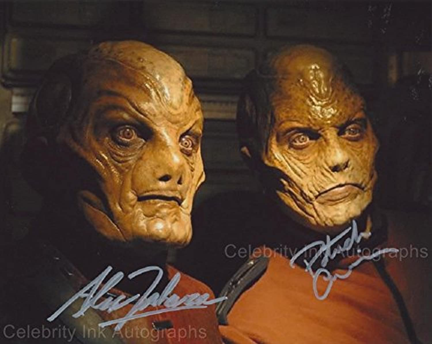 ALEX ZAHARA and PATRICK CURRIE as Warwick and Eamon Finn  Stargate SG1 GENUINE AUTOGRAPHS