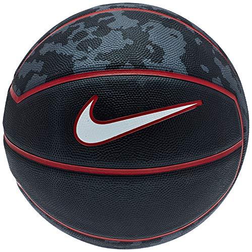 Nike Lebron James - Balón de baloncesto (tamaño completo, 74,9 cm), color negro y rojo