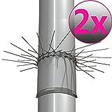 PROHEIM 2er Set Marderabwehrgürtel für Fallrohre bis zu Ø 100mm Marderschutz Marderstopp individuell anpassbar durch Stecksystem der Gürtelglieder