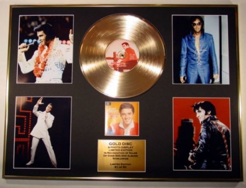 GOLD RECORD Disque d'or et Photo d'Elvis Presley Edition/Coa/Jailhouse Rock
