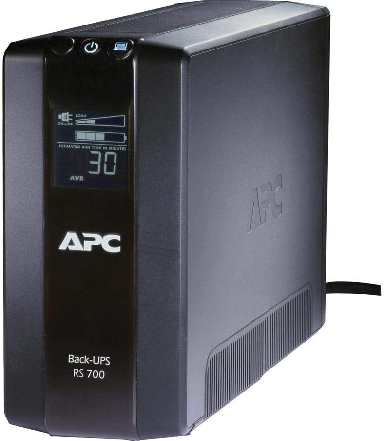 APC Back-UPS RS 700 VA Tower UPS - 700VA/450W - 3 Minute Full Load - 3 x NEMA 5-15R - Battery Backup System 3 x NEMA 5-15R - Surge-protected