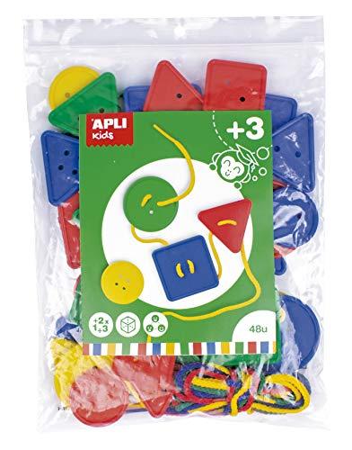 APLI Kids 17492 - Botones ensartables 48 u. - Actividad educativa