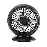 CrazyFire USB Mini Lüfter Ventilator Tischventilator PC Fan für Den Schreibtisch 2 Einstellbare Geschwindigkeiten 360° Drehbar Leise Lange Kabel für Büro Zuhause und Reise(Schwarz)
