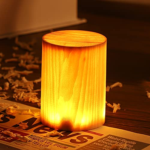 Mainen LED Nachttischlampe Holz LED Nachtlicht USB touch tischlampe Tragbare Nachtlicht led Stimmungslichter Schlafzimmer Dekoration Geschenke für Kinder und Erwachsene