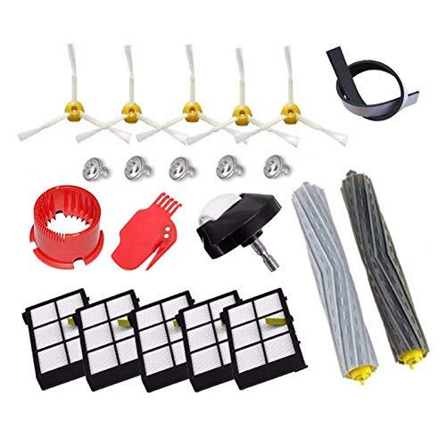 Kit de accesorios para extractor de desechos sin enredos, cepillos laterales y filtros Hepa, repuesto para IRobot Roomba 800 Series 870 880 900 Series 980 (color: HXL042) Reemplazo (color: Hcy 6006)