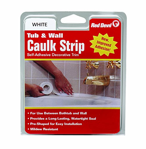 Red Devil 0151 (Wide) 1-5/8 in. x 11 ft. Tub & Wall Caulk Strip, 1-5/8' x 11', White