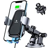 Andobil Car Phone Mount Wireless Charger Auto Clamping [Smart & Safe] Qi Wireless Phone Holder Charger for Car Dashboard Air Vent Car Charger Mount Compatible iPhone 12/11/SE/X/8,Samsung S21/S20 &More
