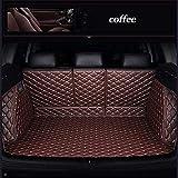 Funda De Maletero De Coche para BMW E30 E34 E36 E39 E46 E60 E90 F10 F30 X1 X3 X4 X5 X6 1/2/3/4/5/6/7 Alfombrillas para el Maletero Protector Cubre Maletero Coche Accesorios Coche-Café