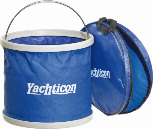 Preisvergleich Produktbild YACHTICON Falteimer 9 Liter Camping Boot Putzeimer klappbar faltbar