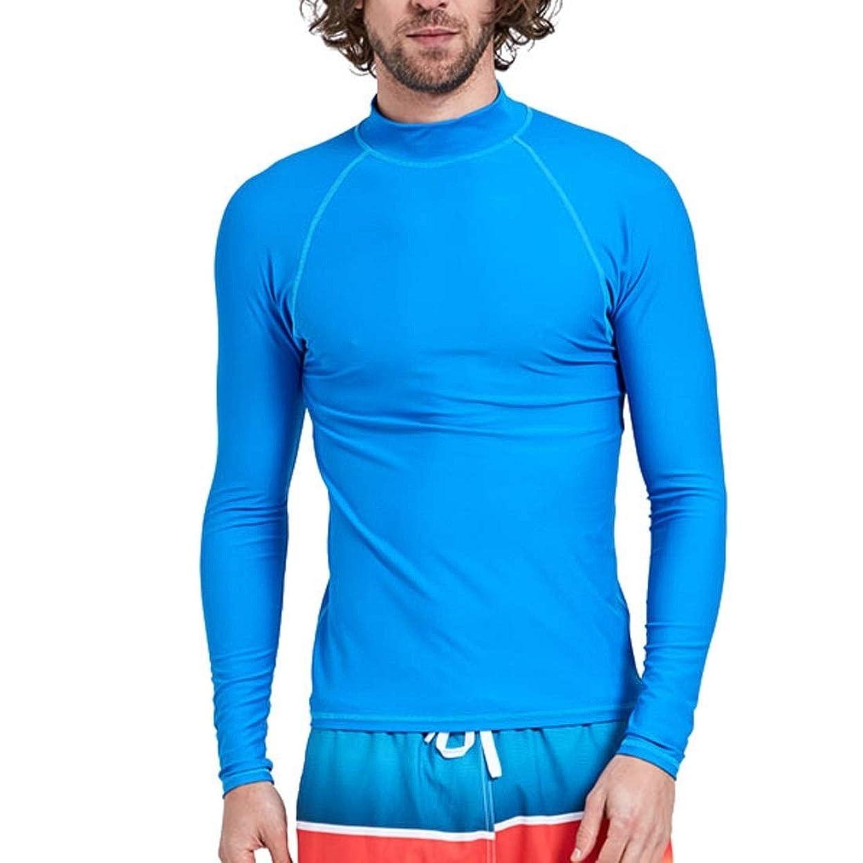 膨らみと闘うみぞれALEXBIAN ダイビングスーツ男性の大きなサイズのクラゲ服シュノーケリングスーツ分割日焼け止め速乾性大人の長袖の水着 (Size : XXXXL)