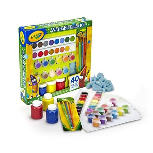 Crayola – Set Pittura Lavabile, 40 pezzi, Attività Creativa per Bambini, per Scuola e Tempo Libero, 54-0155