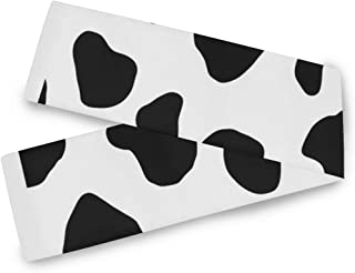 Table Runner Vector Cow Pattern Graphics 90 x 13 Inch for Dinner Party Events
