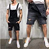 Jeans Jeans da Uomo con Stampa di Design Jeans Strappati A Vita Alta alla Moda Tute Pantaloncini Salopette di Jeans Strappate da Strada Esti
