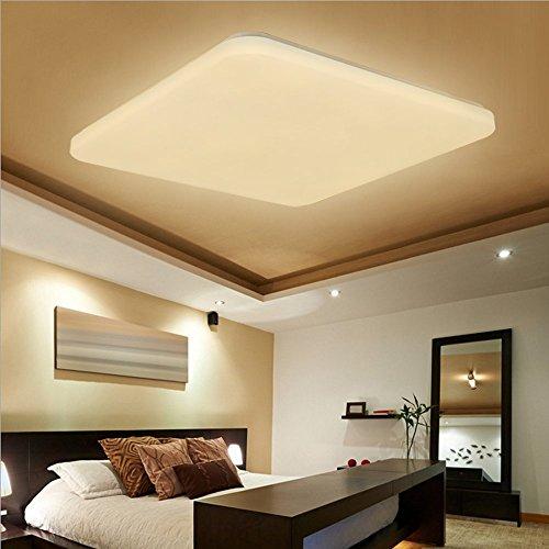 SAILUN 48W LED Bianco Caldo Quadrata Ultraslim Plafoniera Lampada a Soffitto Lampadina a Risparmio Energetico Corridoio per Lampada da Soggiorno Lampada da Cucina Camera da Letto