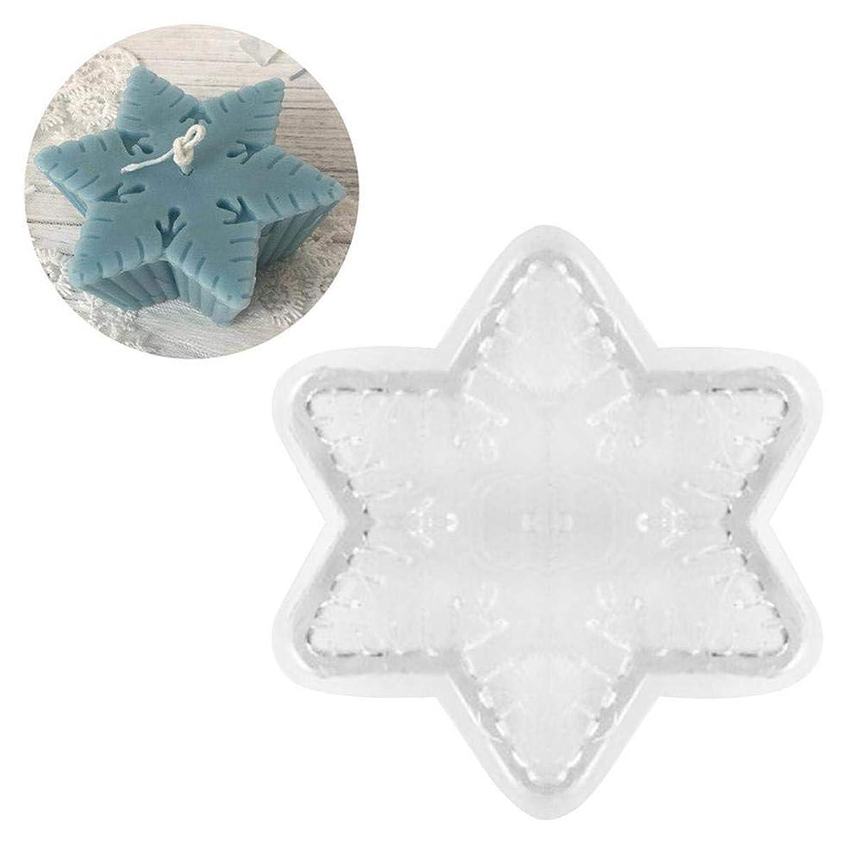 ほんのバット刺激するDIY手作りキャンドル型 香り付きキャンドル型 スノーフレークキャンドル型 高温および低温耐性 簡単に脱型して清掃できます ために パラフィン、ワックス、蜜蝋キャンドル