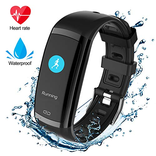 Fitness Tracker HR, I-Swim Fitness Horloge met Hartslagmeter, Activiteit Tracker, Slaapmonitor, Step Counter Calorieën Horloge, IPX7 Waterdichte Smart Polsband Stappenteller