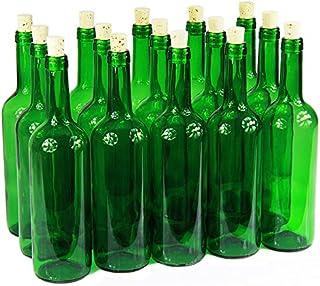 Bouteille de vin 750ml sans/avec bouchon Bouteille en verre Bouteille vide pour vin, liqueur, 3couleurs, vert,...