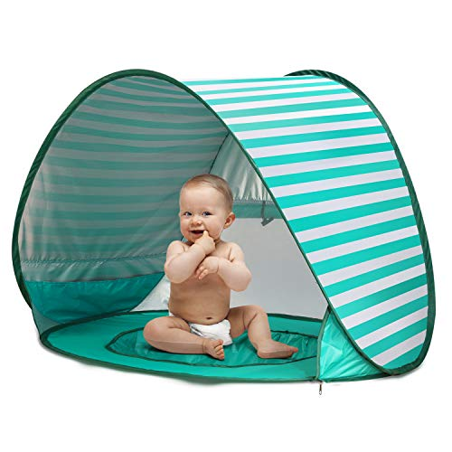 CeeKii Tienda Playa Bebe, Pop-up Tienda de bebé con Piscina para Infantil Carpa Plegable Portátil Protección Solar Anti UV 50,...