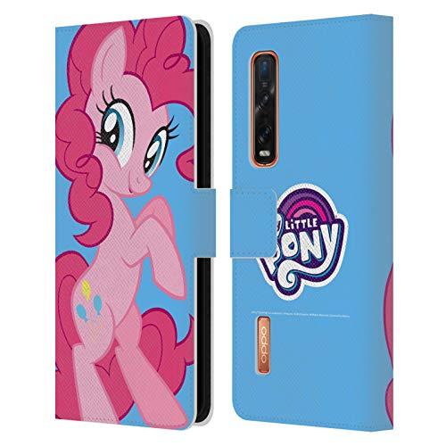 Head Case Designs Licenciado Oficialmente My Little Pony Pinkie Pie Solo Arte del Personaje Carcasa de Cuero Tipo Libro Compatible con OPPO Find X2 Pro 5G