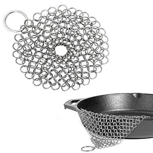 NANAD gietijzeren reiniger. Steel Scrubber - Cookware Cleaner voor Skillet, Wok, Pot, Pan, Beschermt Cookware Seasoning