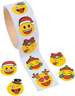Christmas Emoji Stickers - 1 Roll