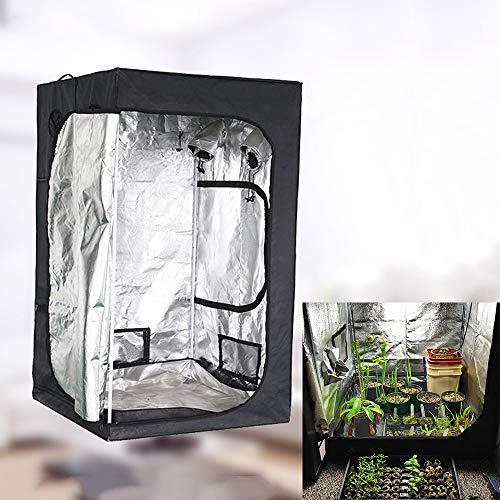 Wzz Grow Tent Hidroponía Grow Tent Caja De Cultivo Interior Invernadero Tienda De Cultivo Gabinete De Cría, 200 X 200 X 200CM