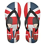 Linomo Chanclas para hombre y mujer, con diseño de la bandera británica británica, multicolor, 36/37 EU