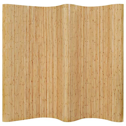 N/O Goditi Lo Shopping con Pannello Divisore per la Stanza in bambù Naturale 250x195 cm