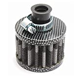 Mini filtro de admisión de aire frío de 12 mm, cárter de ventilación turbo, cubierta de la válvula de ventilación del coche, accesorios de actualización del filtro de aire, patrón de carbono