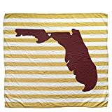 Tallahassee Florida State Baby Blanket Organic Cotton Muslin Swaddle Blanket - 47' x 43' - Fans of Florida State Baby Gift for Boys Girls FSU Receiving Blankets