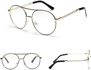 d422d3242 Easy Go Shopping Gafas de Esmalte de Metal Gafas ópticas de Marco Grande,  Gafas Planas