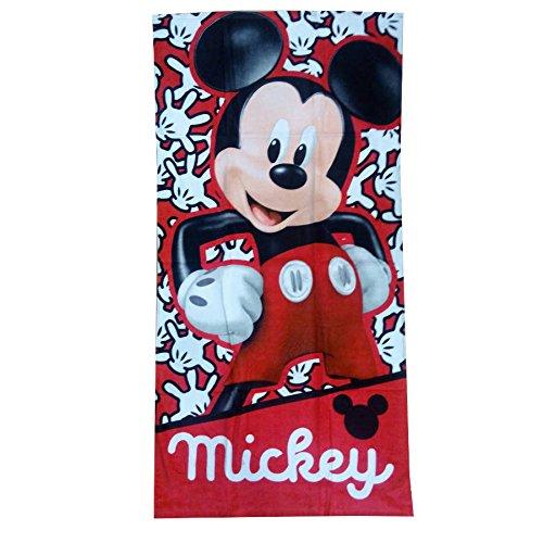 Textil Tarragó Mickey Toalla de Playa, Algodón, Rojo, 30x40x3 cm
