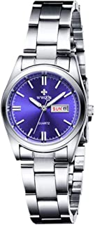 Women's Watches Luminous Waterproof Calendar Ladies Stainless Steel Dress Quartz Wrist Watch