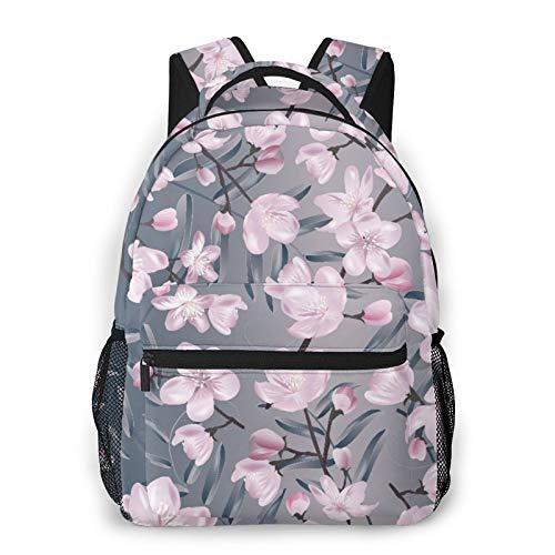 MAYBELOST Mochila casual de doble hombro,Sakura floreciente botánica,Mochila ligera y duradera Mochila deportiva para viajes de negocios Mochila para adolescentes adultos