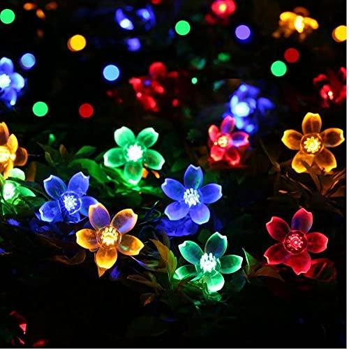Kacniohen La Secuencia Solar Luces LED 50 7M Cola del Enchufe conectable Cereza Flor luz de la decoración de la Novedad para el Partido, Patio, Buen Regalo