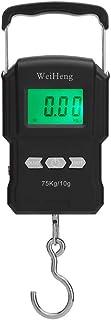 Báscula portátil,Baugger- 75 kg / 10 g báscula electrónica retroiluminación báscula digital portátil pesca postal gancho colgante escala