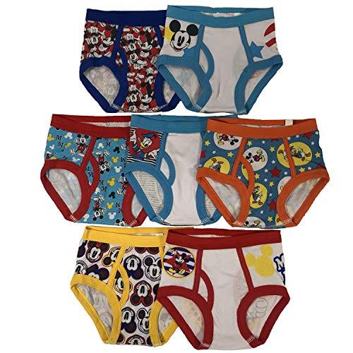 Disney Mickey Mouse – Pack de 3 o 7 Calzoncillos de 18 m, 2/3T, 4T, Multicolor, 2T – 3T