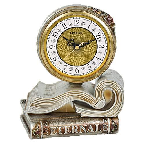 JYKOO Retro Buch Geformt Uhr, Dekoration Uhr, Tischuhr, Hochwertige Bewegung, Desktop-wecker Für Ihre Eltern, Freunde, Die Wertvollsten Geschenke Der Kinder,B