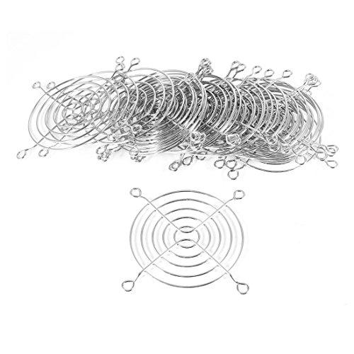 sourcing map Protector de Rejilla de Dedos de Ventilador de Carcasa de PC de 8cm Plateado - 20 Piezas