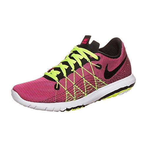 Nike Mädchen Flex Fury 2 (GS) Laufschuhe, Rosa (Hyper Pink/Black-Volt-White), 35.5 EU