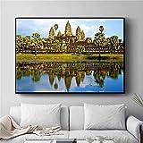AQgyuh Puzzle 1000 Pezzi Cambogiano Paesaggio Arte Fotografia Pittura Moderna Arte Immagine Puzzle 1000 Pezzi Arte Great Holiday Leisure , Giochi interattivi per famiglie50x75cm(20x30inch)