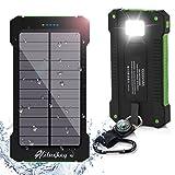 Power Bank 10000mAh , Hiluckey Solar Ladegerät Dual USB tragbar Schnittstelle Externer...