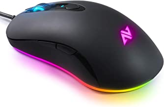 ABKONCORE A530 Gaming Mouse [4000DPI], Wired Computer Mouse, RGB Backlit Mice with 8 Programmable Buttons, 80g Lightweight Design, 16M Color, 4,000 DPI Adjustable, PC Gaming Mouse for Laptop, PC, Mac.