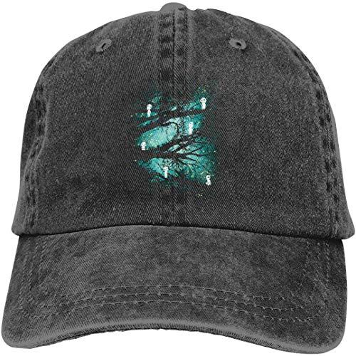 LJKHas232 121 Gorra de béisbol de Mezclilla de algodón Ajustable para Hombre para Mujer Sombreros de Camionero Final Fantasy Mako ExSoldier