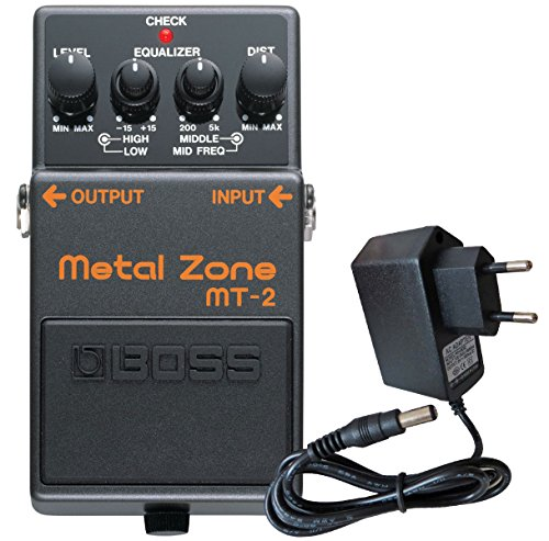 Boss MT de 2 metal Zona Pedal de distorsión Keepdrum 9 V Fuente
