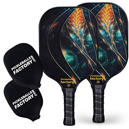 Pickleball Paddles, Pickleball Paddle, Pickleball Paddle Set of 2 Picklelball Rackets, Mystery Power Pickleball Paddle for Women Men Youth Teens Outdoor&Indoor Ball Game Set in Beach Court Club
